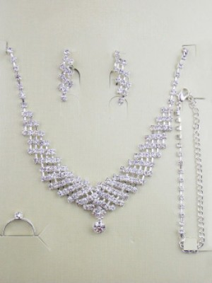 Gorgeous Alloy With Bergkristal Wedding Bridal Sieraden Set