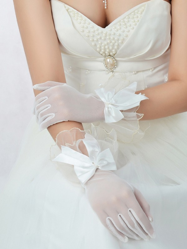 Best Tule Strik Bridal Handschoenen