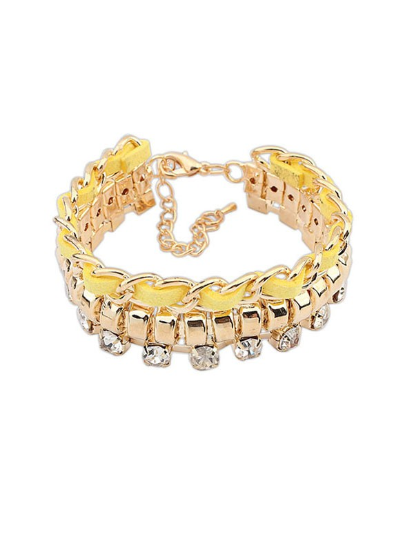 Occident Fashionable New Flash Drilling Woven Fashion Armbanden