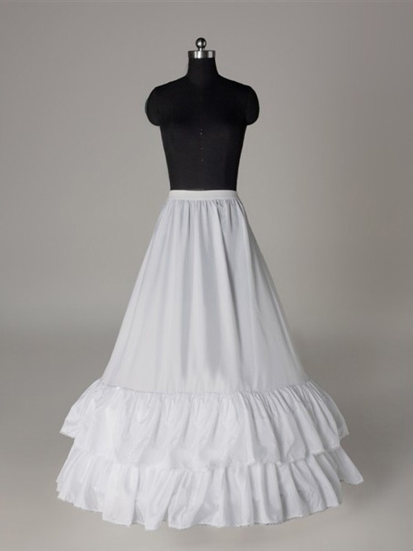 Nice Nylon A-Lijn 1 Tier Floor Length Slip Style Wedding Petticoat