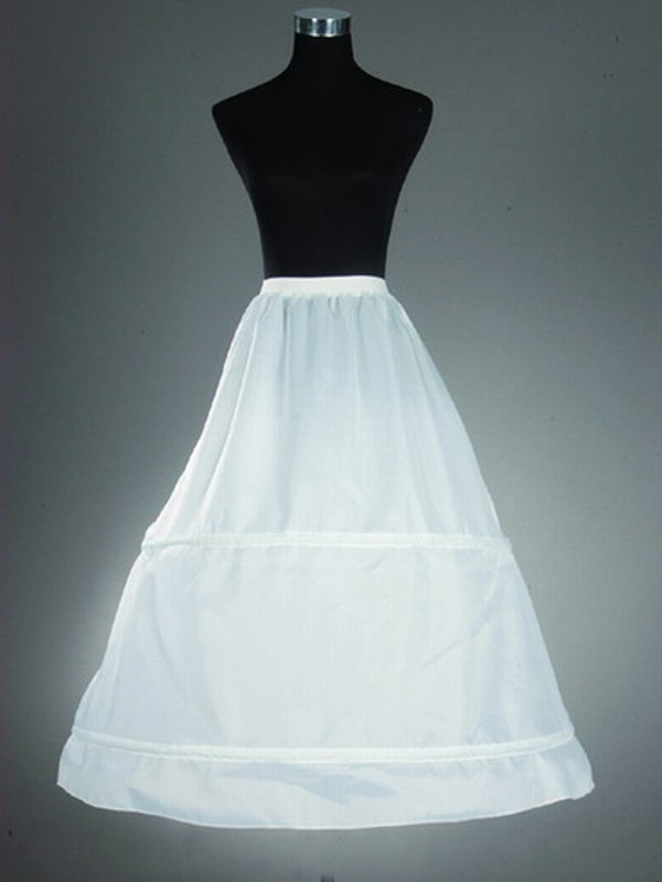Nylon A-Lijn 1 Tier Floor Length Slip Style Wedding Petticoat