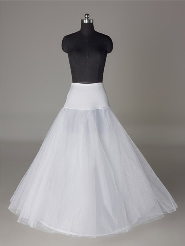 Tule Nettoting A-Lijn 2 Tier Floor Length Slip Style Wedding Petticoat