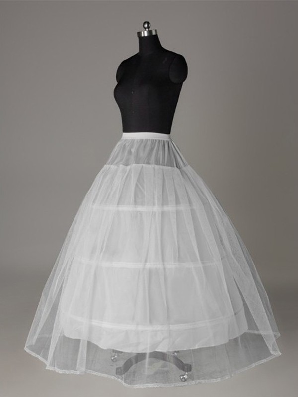 Tule Nettoting Ball-Gown 2 Tier Floor Length Slip Style Wedding Petticoat