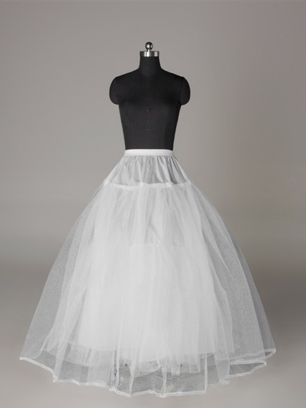 Tule Nettoting Ball-Gown 3 Tier Floor Length Slip Style Wedding Petticoat