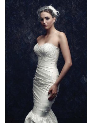 Beautiful Netto Feather Bridal Sluiers