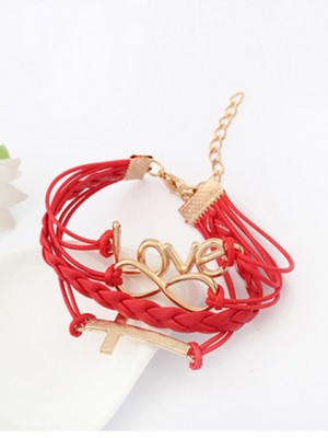 Korean version Romantic Password love Cross Fashion Armbanden