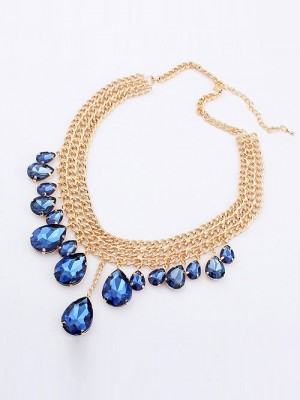 Occident Hyperbolic Stylish Metallic Mashup style New Water Drop Fashion Ketting