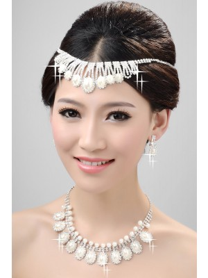 Nice Alloy Clear Kristal Wedding Party Oorbellen Set